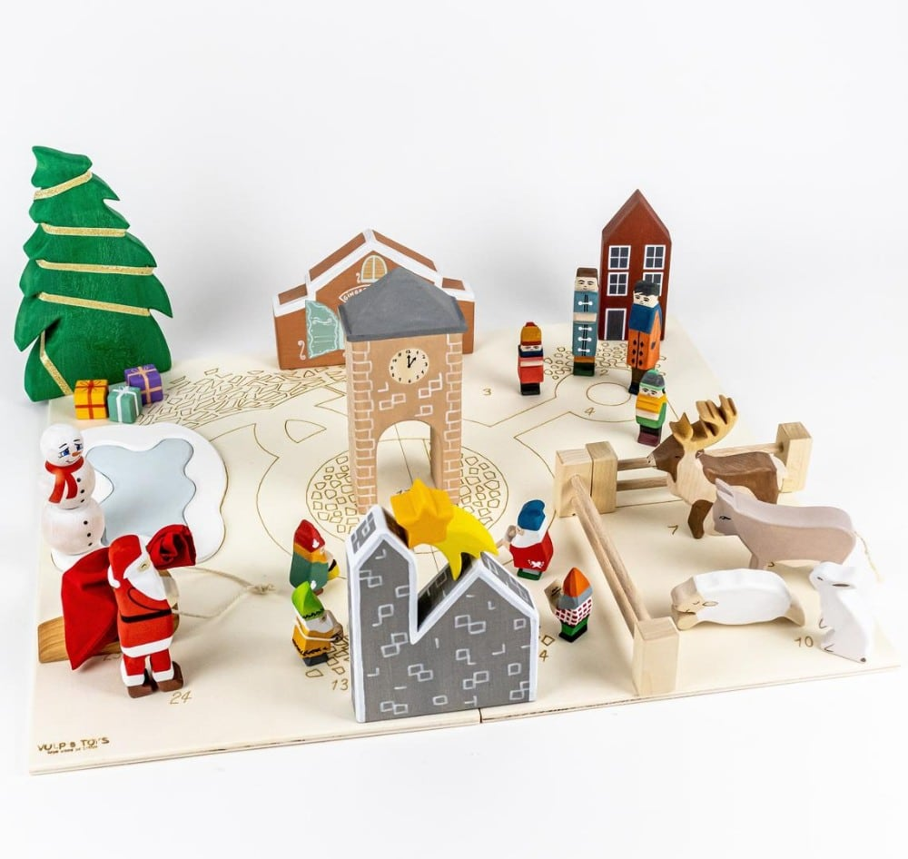 Vulps Toys Brand Wooden Advent Calender Waldorf Figurine Set