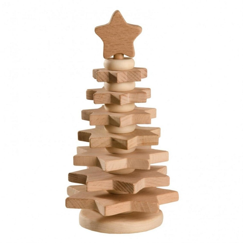 Wood And Care Brand Natural Baby Wooden Stacking Christmas Tree