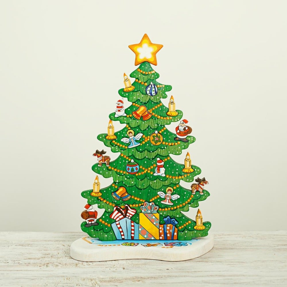 Wooden Caterpillar Brand Traditional Wooden Christmas Tree Puzzle