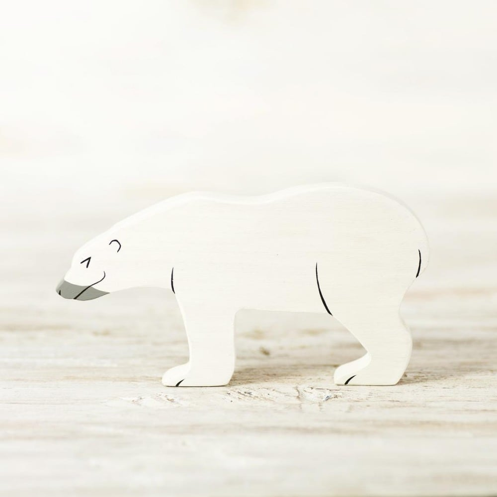 Wooden Caterpillar Brand Wooden Polar Bear Waldorf Figurine