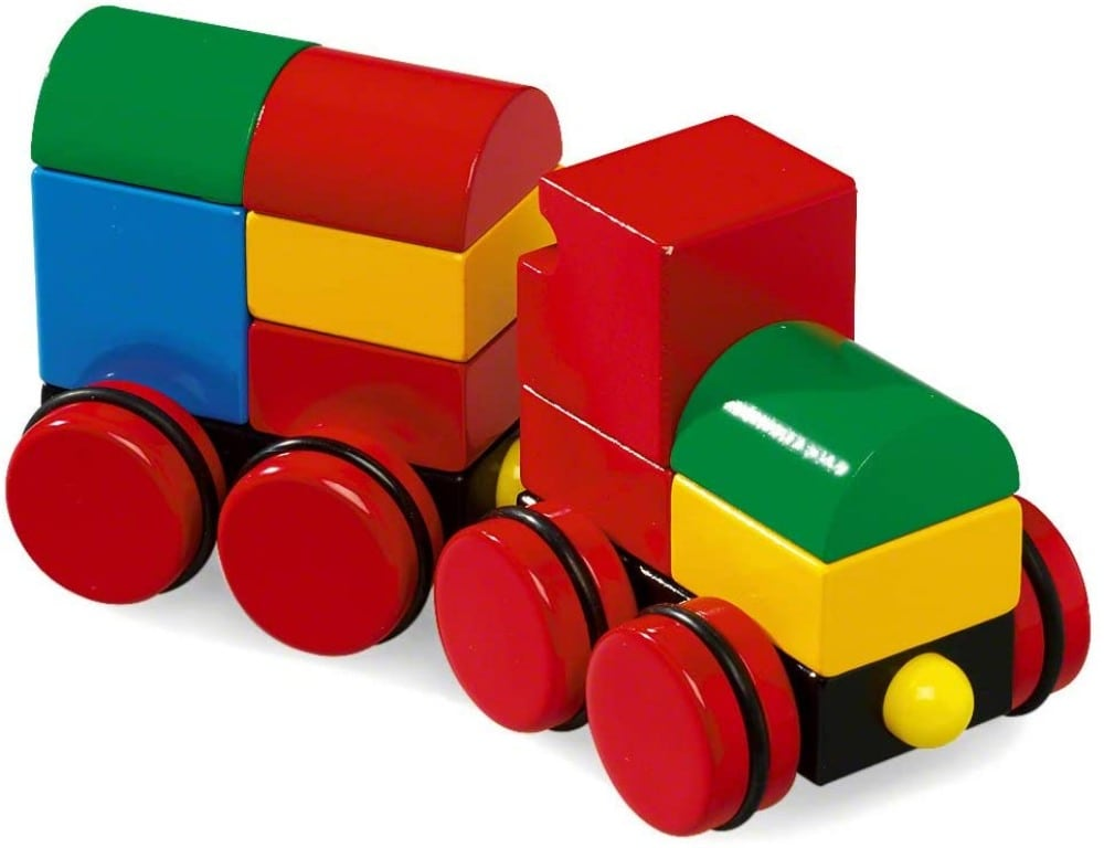 Brio Magnetic Wooden Stacking Train For 12 Month Old Toddlers