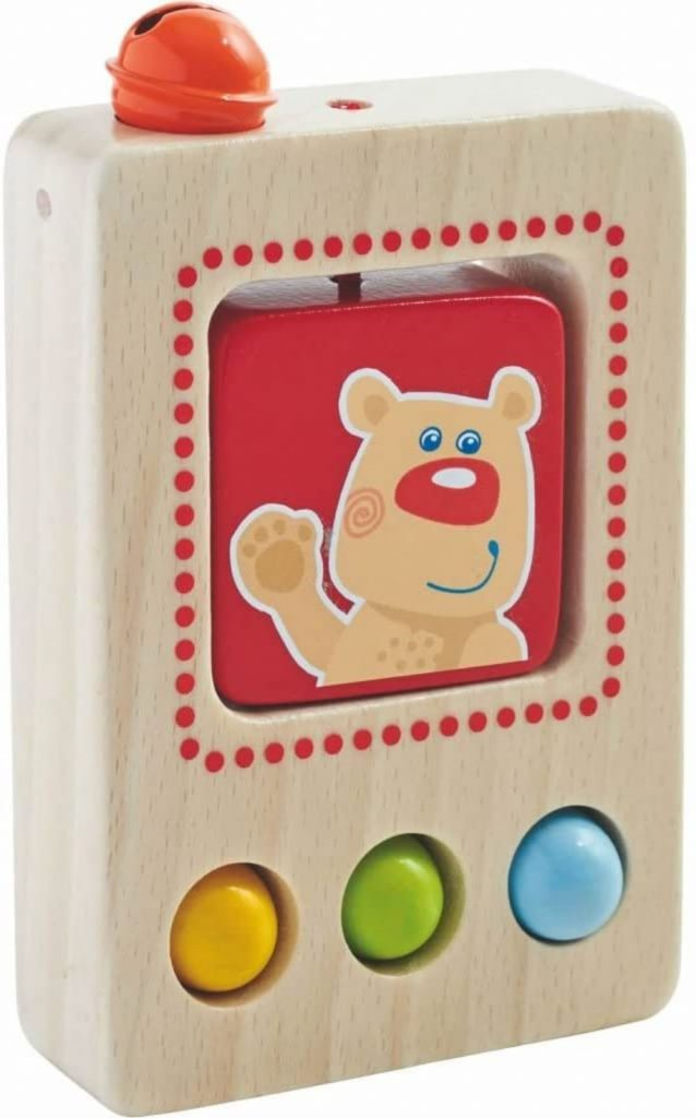 Haba Babys First Phone Wooden Toy For Selfies