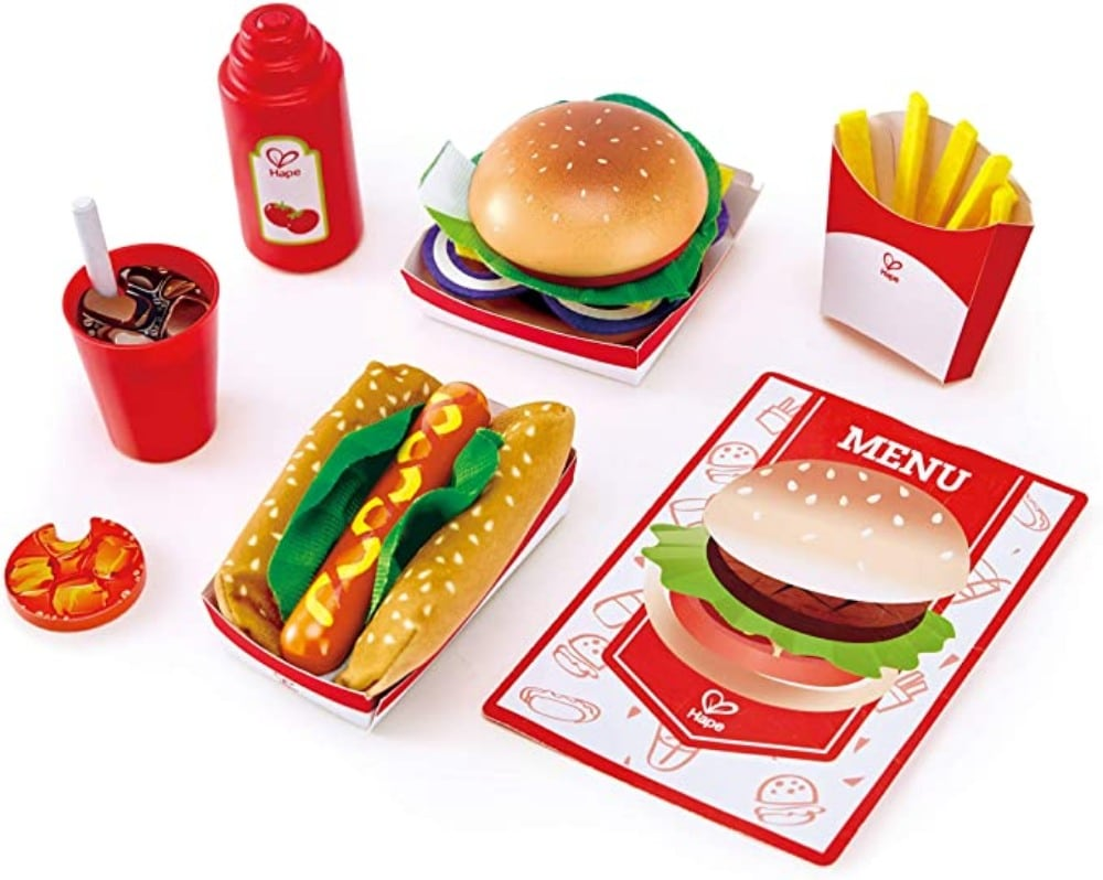 Hape Kids All American Wooden Fast Food Play Set