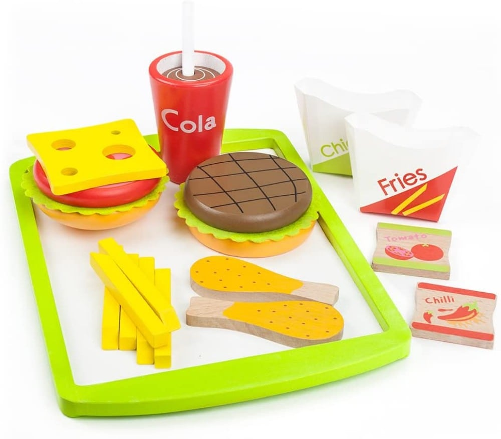 Imagination Generation Fast Food Wood Burger Meal Toy