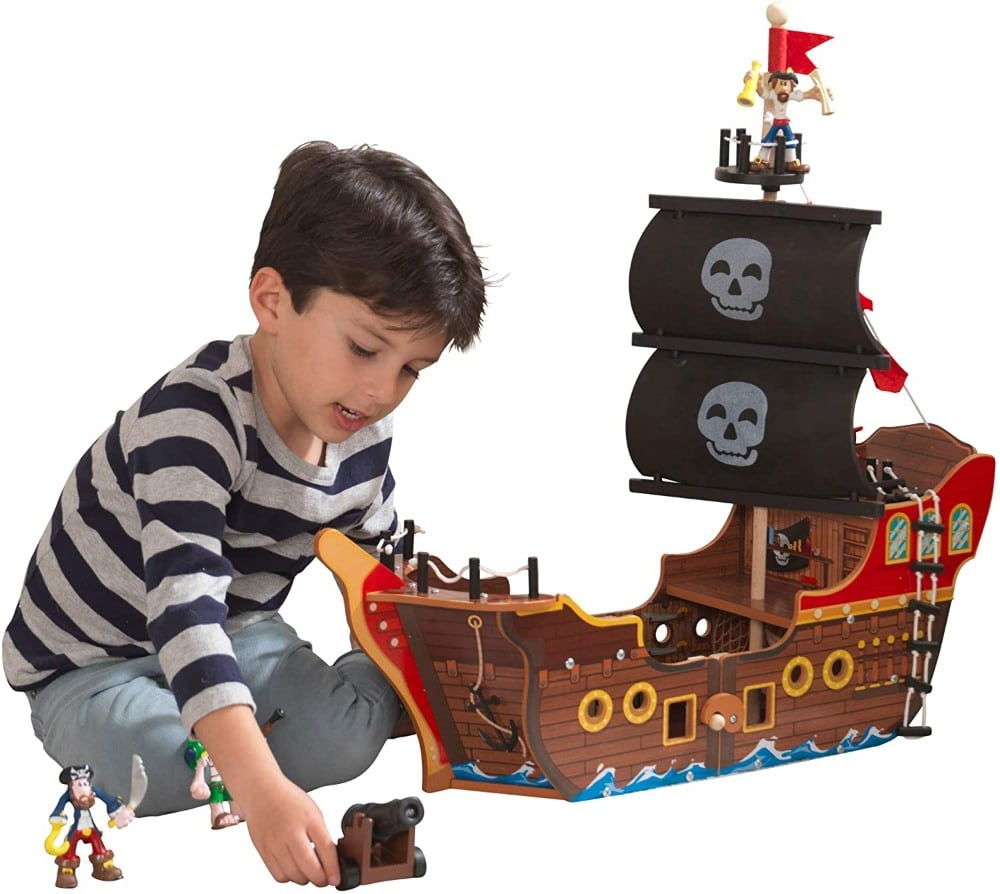 Kidkraft Adventure Bound Wooden Pirate Ship With Lights And Sounds