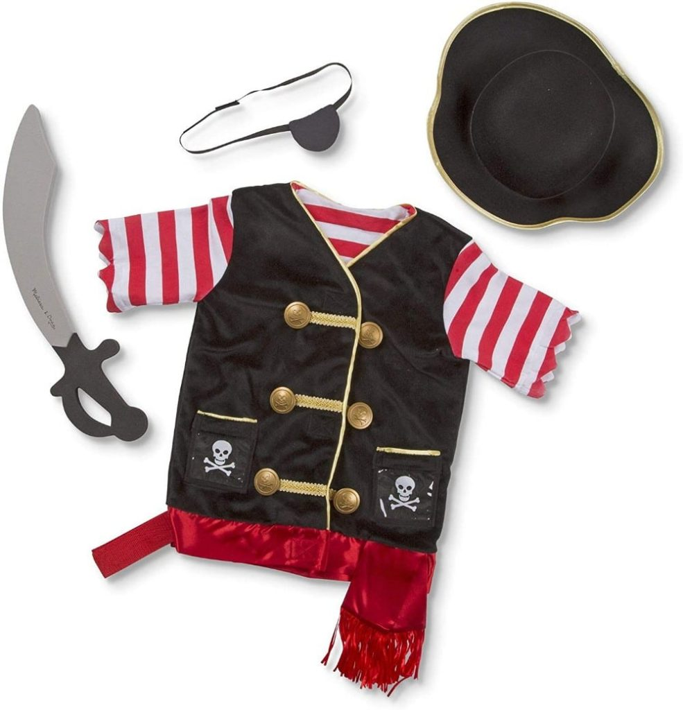 Melissa And Doug Kids Pirate Role Play Costume
