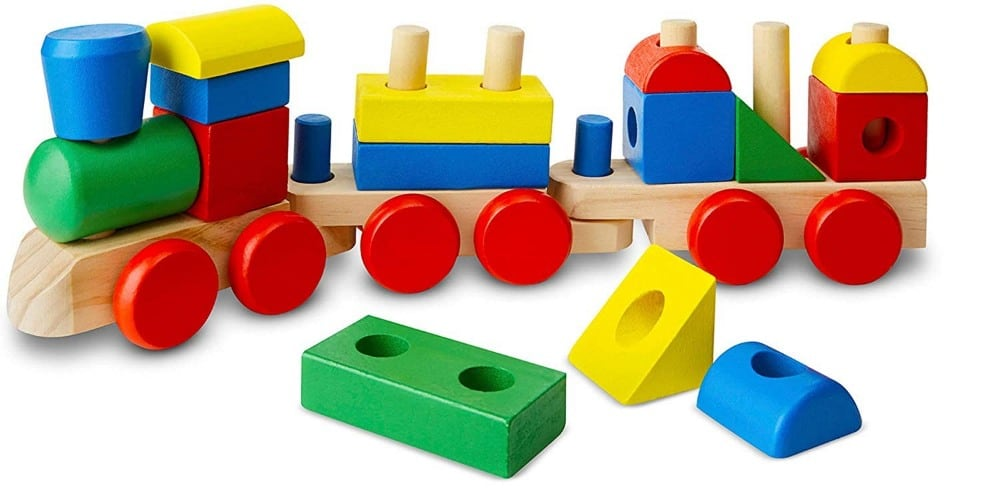 Melissa And Doug Open Ended Wooden Stacking Train