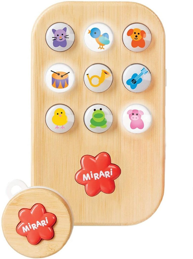 Mirari Myphone Wooden Toy Cell Phone With Remote Control And Voice Recordings