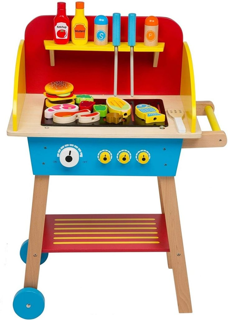 Svan Cook And Grill Wood Toy Bbq Burger Set