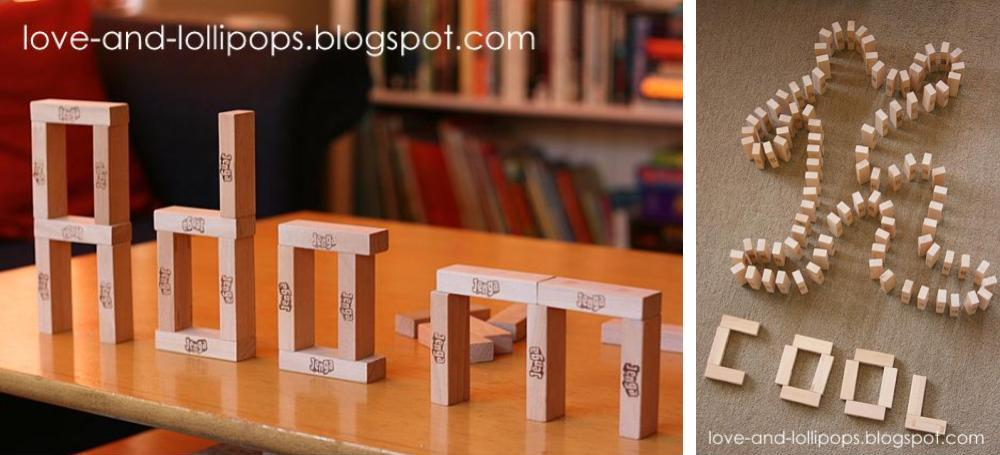 Spell Words And Names With Jenga Pieces