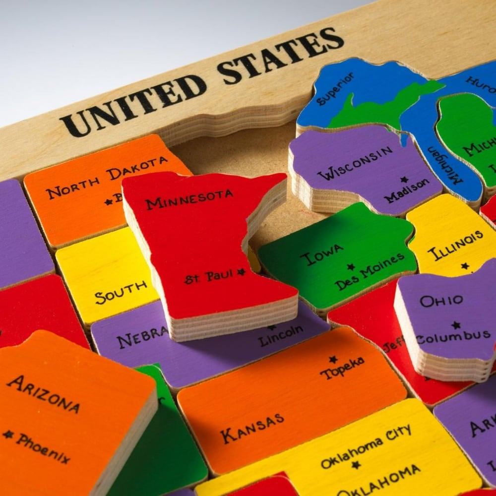 Americas Best Wooden United States Puzzle