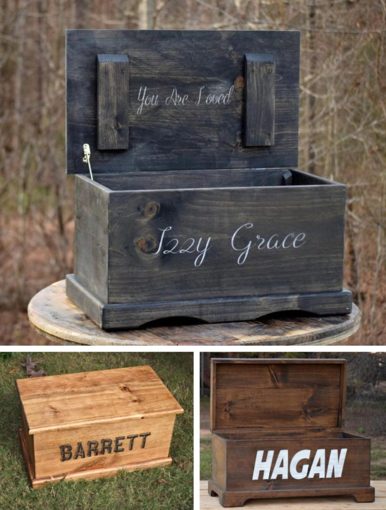 Country Barn Babe Best Custom Engraved Toy Chest