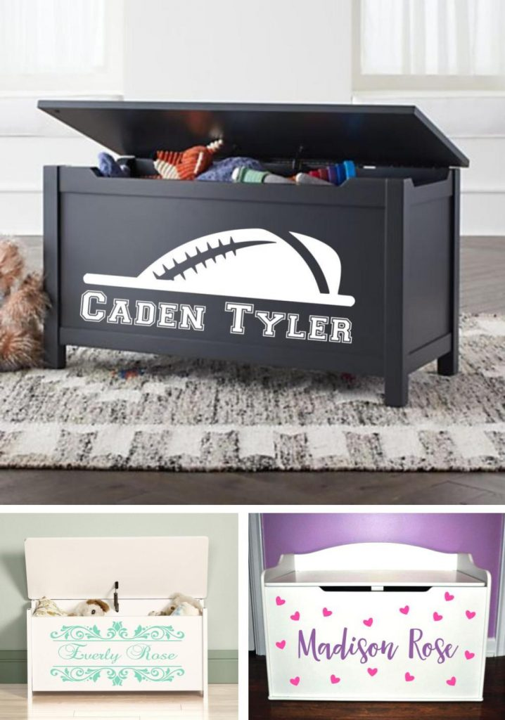 Custom Toy Box Decals For Wooden Toy Box Decoration