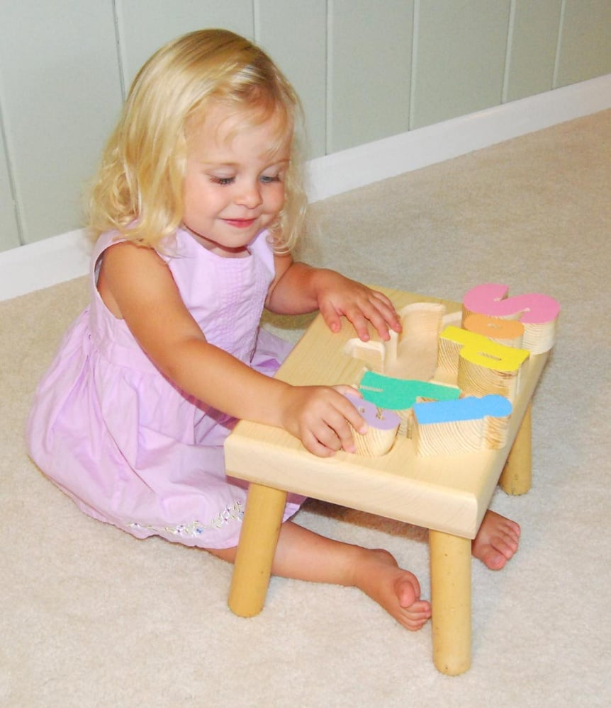 Damhorst Toys Best Wooden Name Puzzle Stool Made In Usa