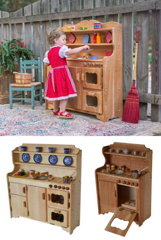 Elves And Angels Made In Maine Best Overall Wooden Play Kitchen