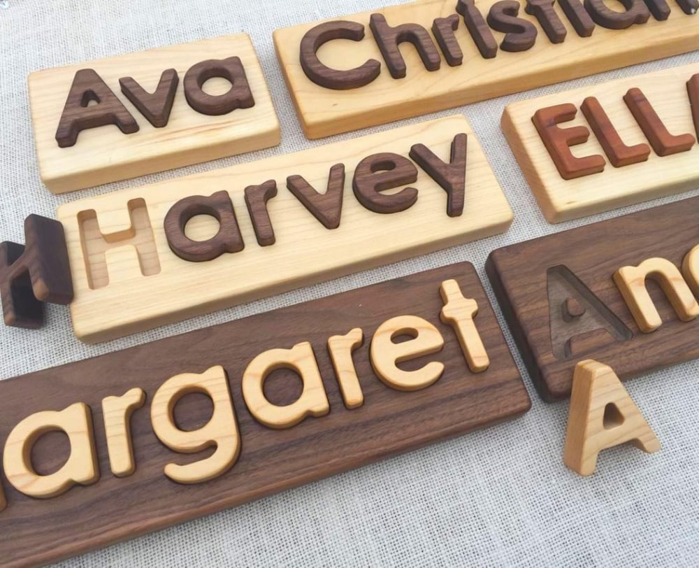 From Jennifer Best Hardwood Name Puzzle Made In Usa