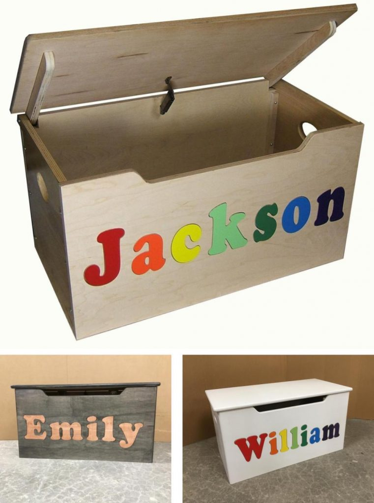 Hollow Woodworks Best Natural Wood Toy Box