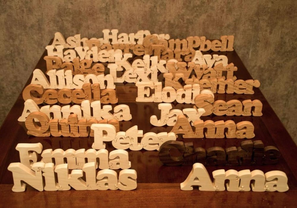 Little Wooden Wonders Stand Up Wooden Name Puzzle Made In Usa