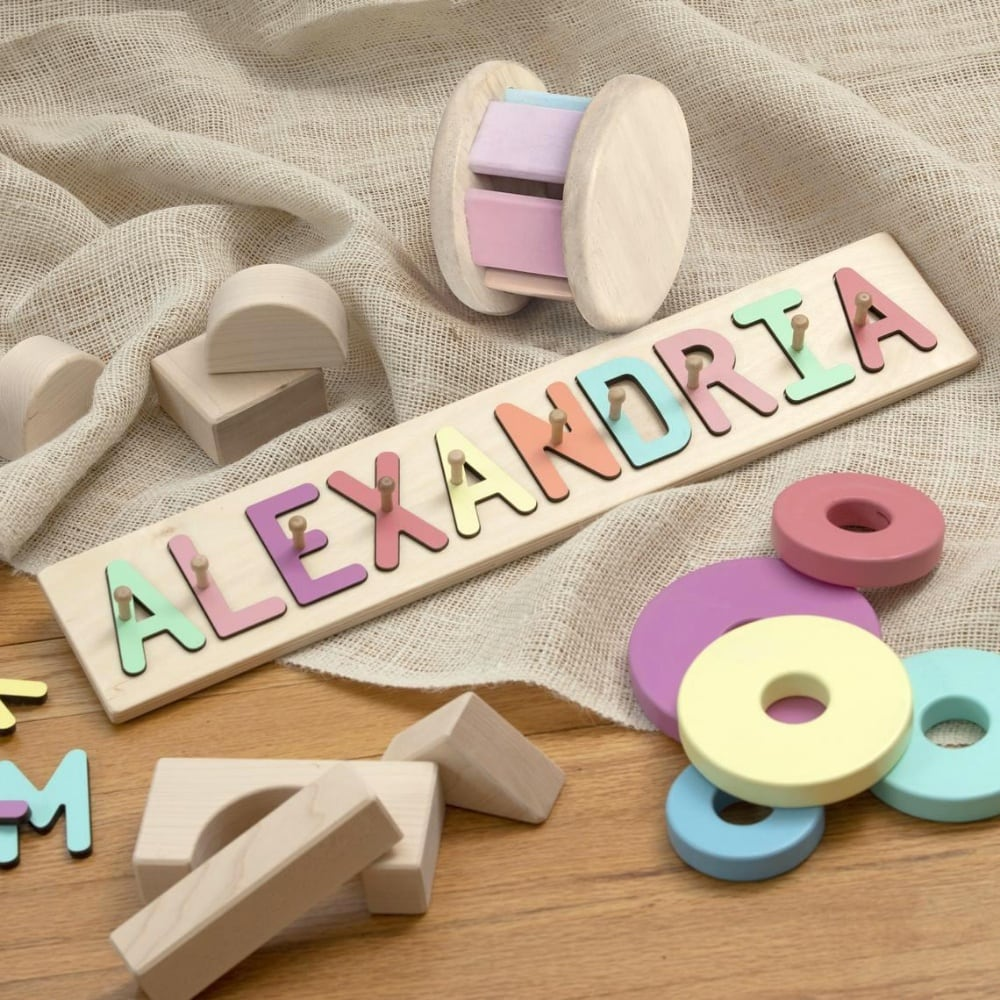 South Bend Woodworks Best Name Puzzle With Pegs Made In Usa