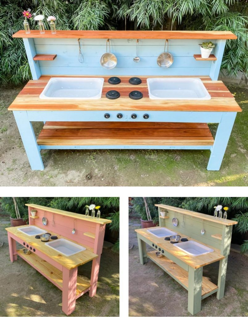 Wood N Poppy Made In California Best Outdoor Wooden Mud Kitchen For Kids