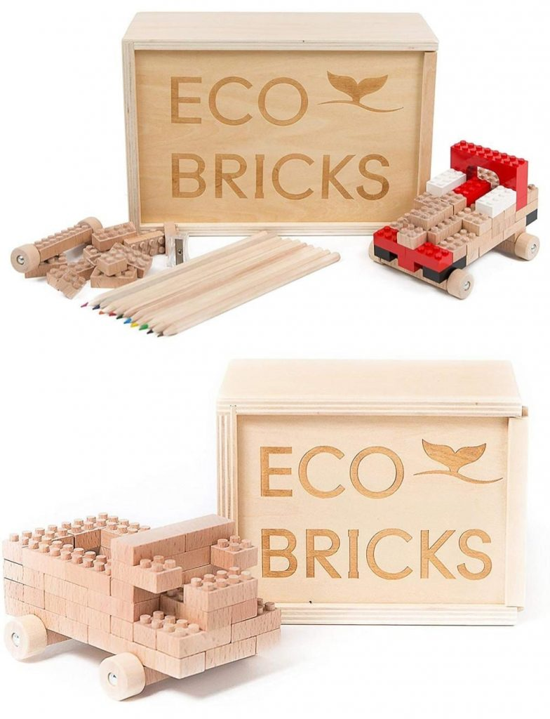 Once Kids Best American Made Wooden Lego Blocks