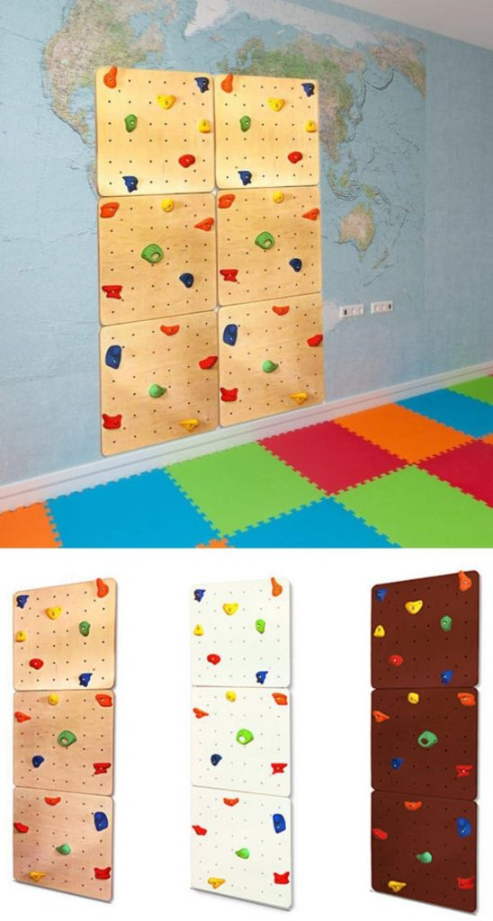 Clever Woody Wooden Climbing Wall For Kids