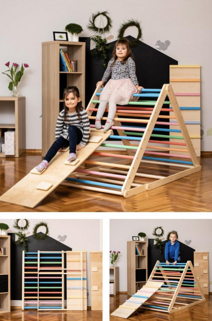 Home For Dreams Large Foldable Toddler Pikler Triangle