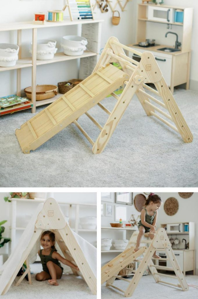 Joey Co Budget Friendly Unfinished Pikler Triangle For Indoor And Outdoor Use