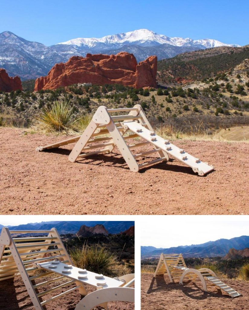 Playwilder American Made Unfinished Outdoor Pikler Triangle