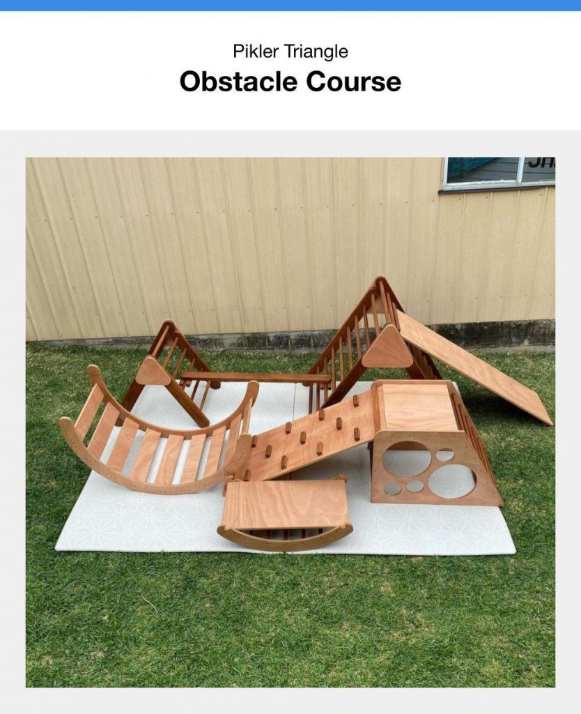 Using A Pikler Triangle Set As An Obstacle Course