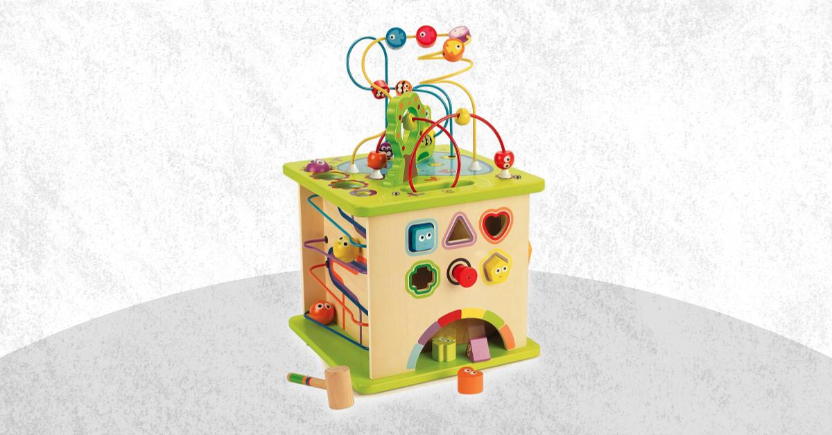 Best Wooden Activity Cube For Baby And Toddler