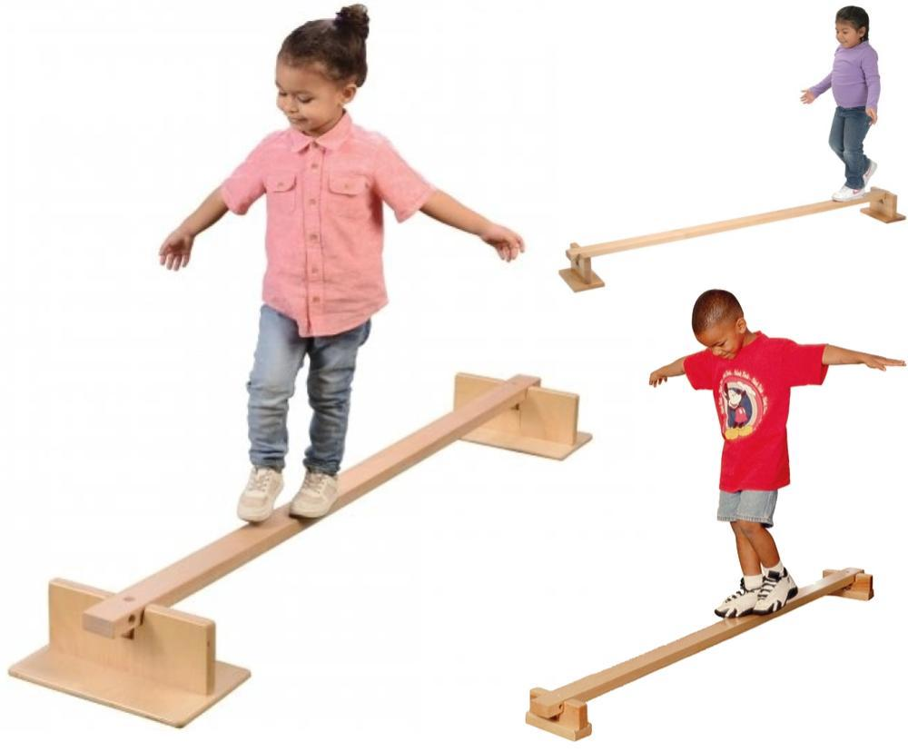Constructive Playthings Two Way Kids Wooden Balance Beam