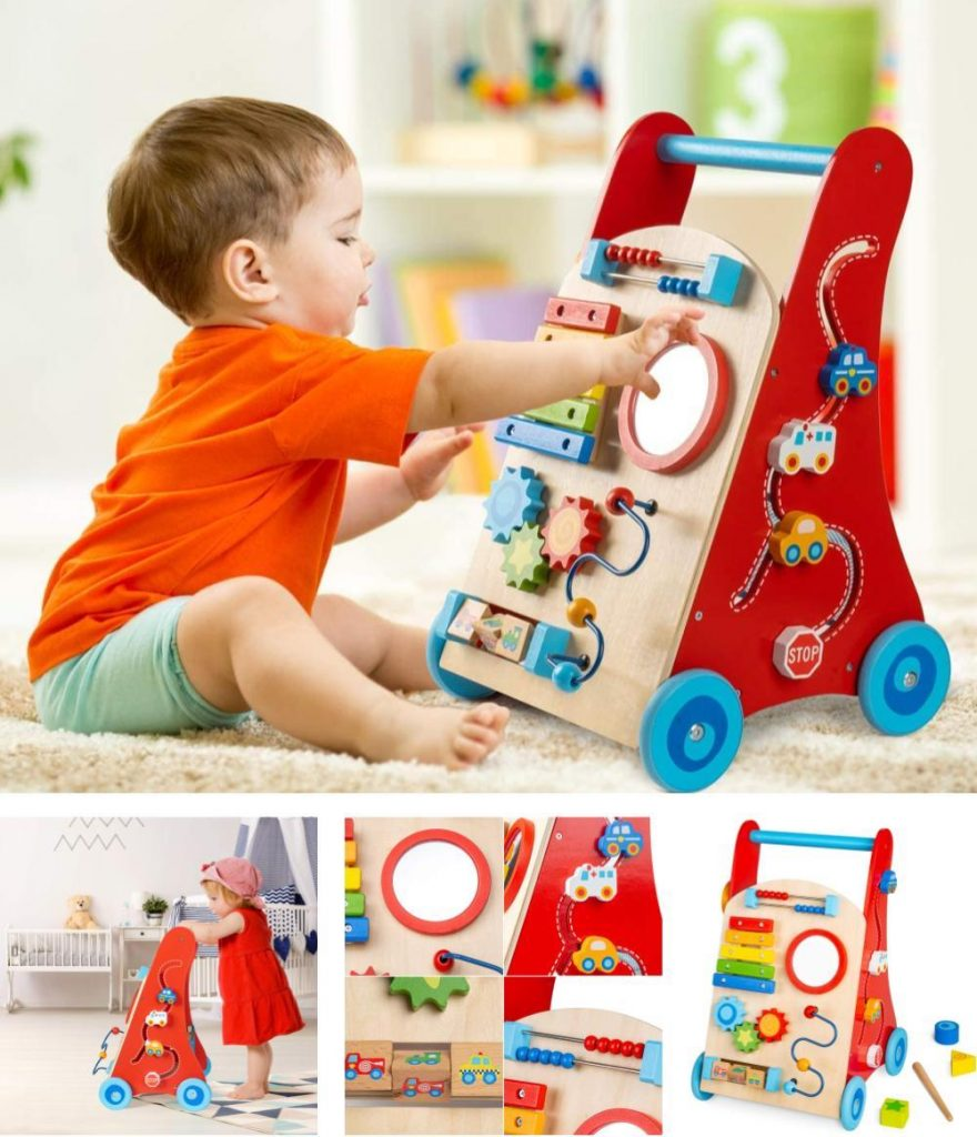 Cossy Wooden Activity Baby Walker For 18 Months
