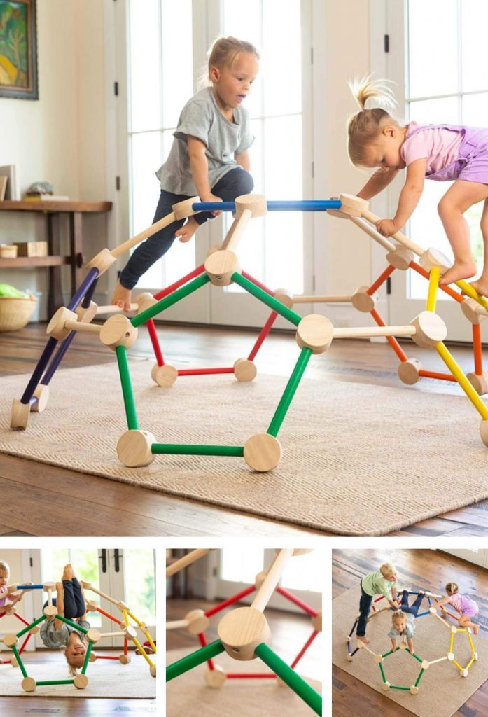 Hearthsong Toddler Sized Wooden Climbing Dome