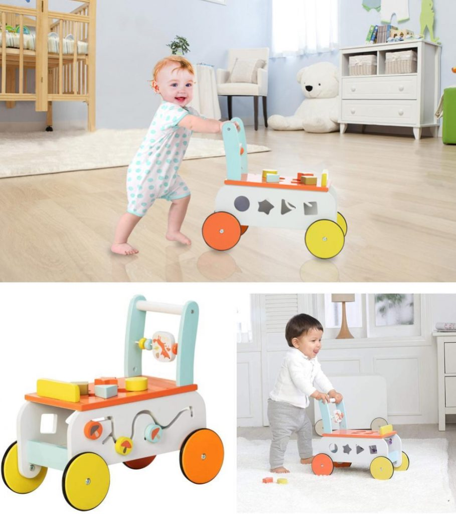 Lababe 3 In 1 Wooden Activity Center For 9 Month Baby