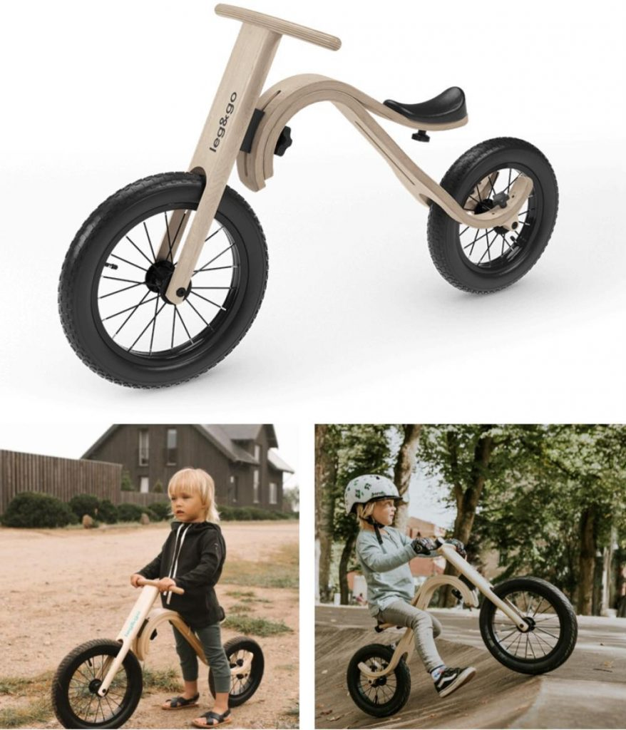 Leg And Go Innovative Wooden Balance Bike For Toddlers