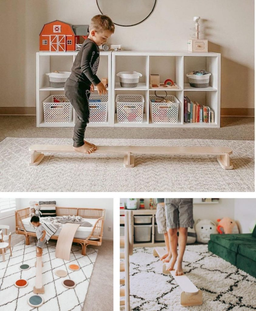 Lily And River Little Gymnast Wooden Balance Beam For Beginner Gymnastics