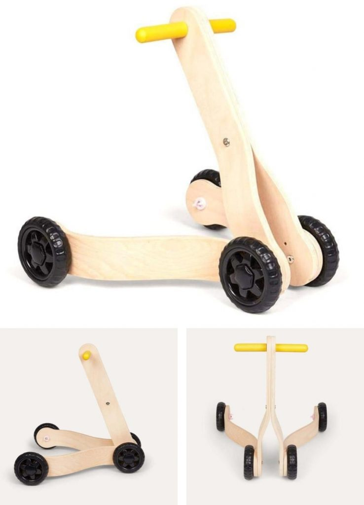 Mamatoyz Speed Focused Sporty Baby Push Walker And Scooter