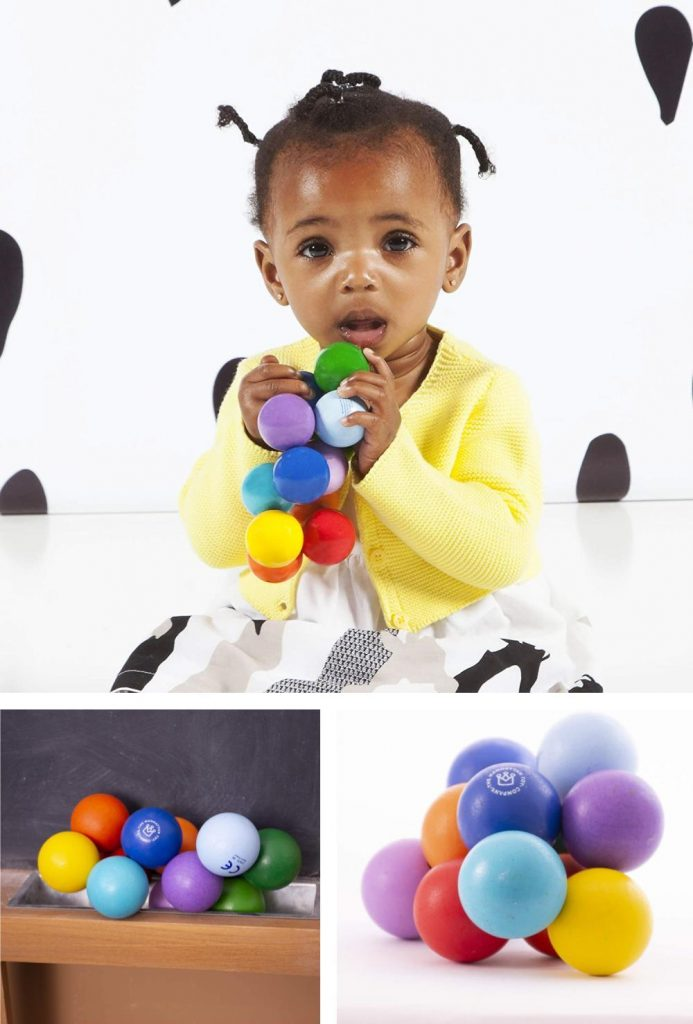 Manhattan Toy Wooden Beads Sensory Teether Mindful Sensory Teething And Grasping Toy