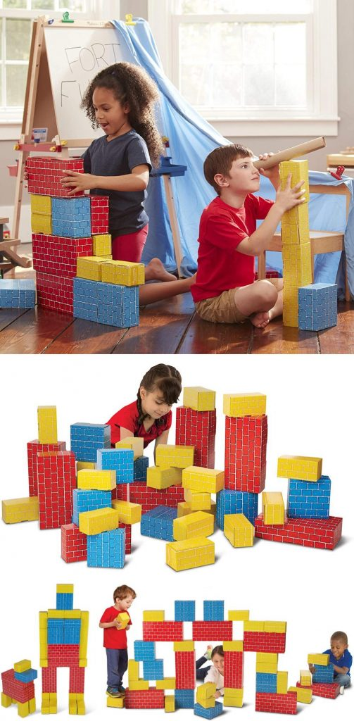 Melissa And Doug Extra Thick Large Cardboard Construction Blocks For Kids
