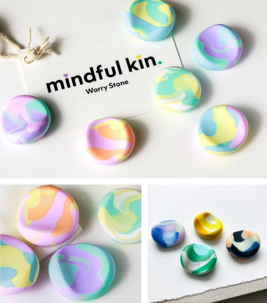 Mindful Kin Worry Stones For Toddlers Calm And Comfort