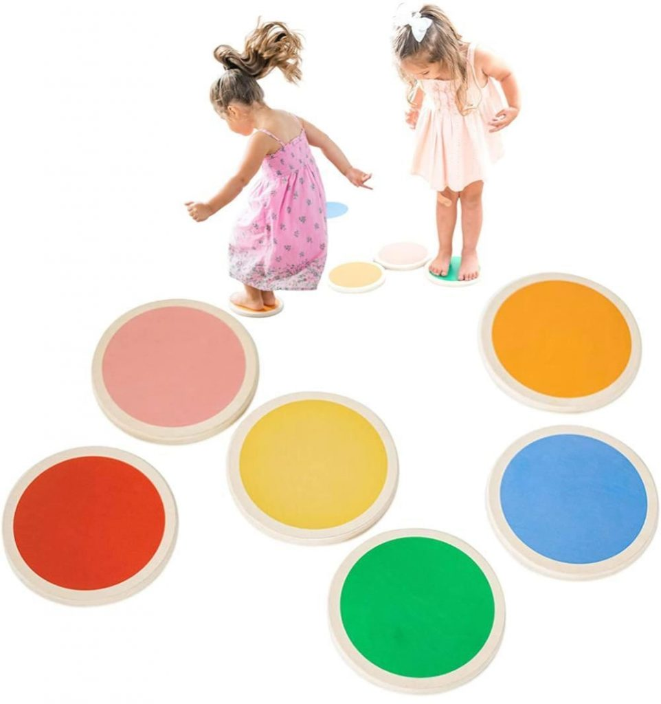Tottlr Wooden Stepping Stones For Toddlers