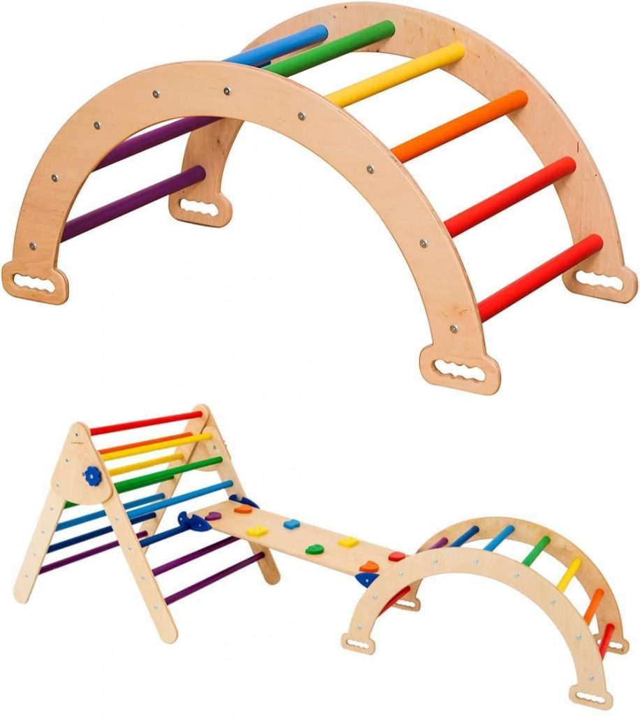Wood And Hearts Pikler Arch Climber And Climbing Set