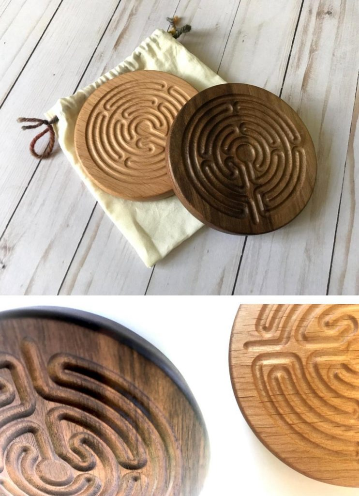 Wooden Contraptions Kids Finger Labyrinth Wooden Meditation Toy