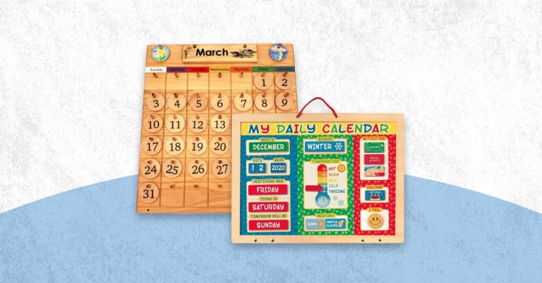 Best Wooden Monstessori Calendar For Kids And Toddlers