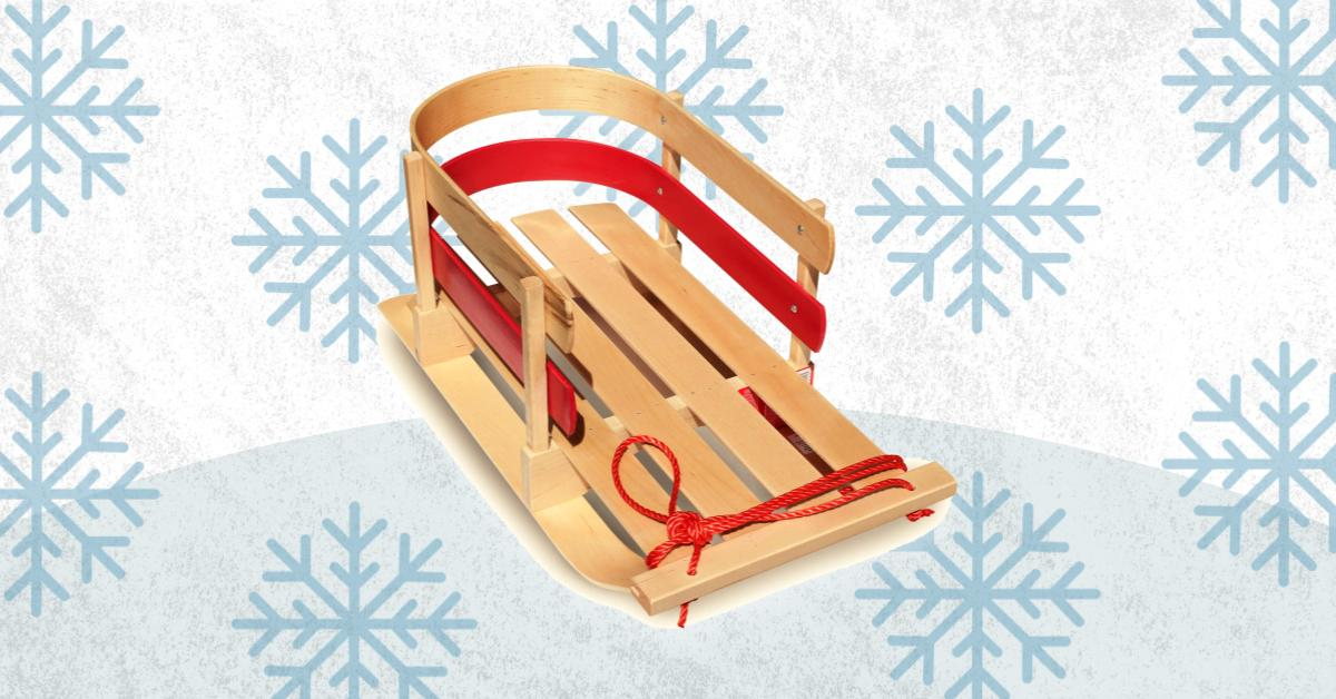 Best Wooden Snow Sled For Kids Toddlers And Baby