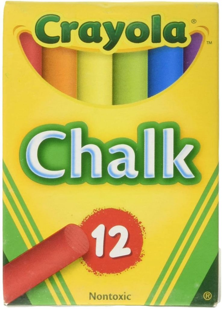 Crayola Assorted Colors Chalk For Chalkboard 12 Sticks Per Pack