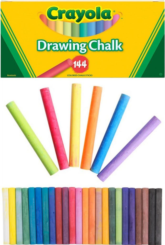 Crayola Colored Drawing Chalk Sticks 144 Unique Colors