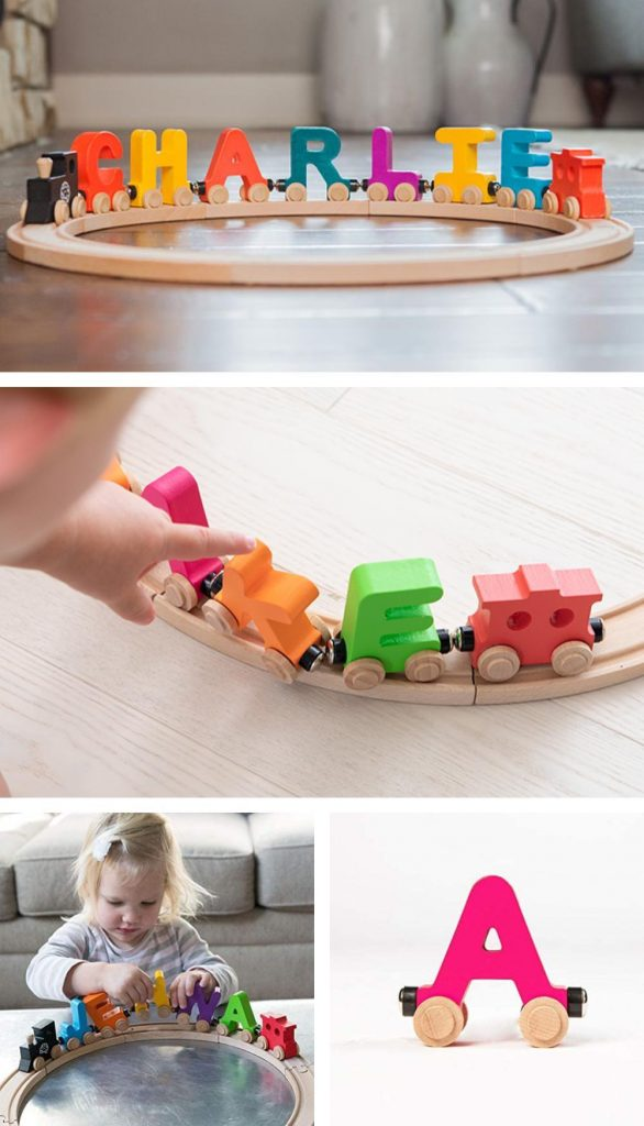 Fat Brain Toys Spell Your Name Alphabet Railroad Personalized Name Train