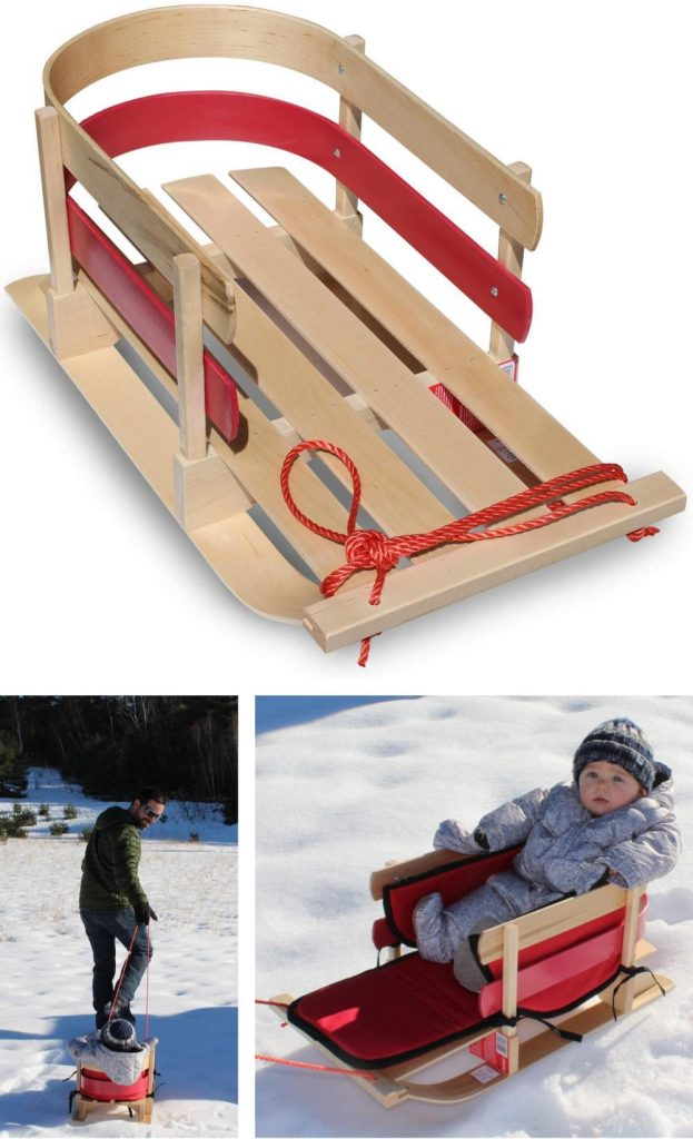 Flexible Flyer Best Wooden Sled For Toddlers And Baby